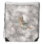 Angel in the Clouds Drawstring Bag