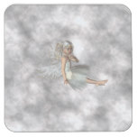 Angel in the Clouds Square Paper Coaster