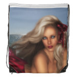 Beautiful Mermaid Drawstring Bag