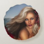 Beautiful Mermaid Round Pillow