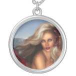 Beautiful Mermaid Silver Plated Necklace