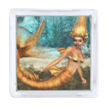 Blonde Mermaid Silver Finish Lapel Pin