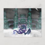 Dragon Guarding Castle  Postcard