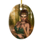 Elf in Woods Ornament