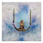 Fairy on a Swing Poster Print