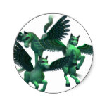 Flying Pegasus Classic Round Sticker