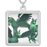Flying Pegasus Silver Plated Necklace