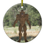 Greek Minotaur Ceramic Ornament