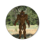 Greek Minotaur Classic Round Sticker