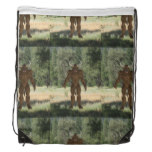 Greek Minotaur Drawstring Backpack