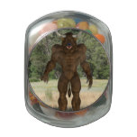 Greek Minotaur Glass Candy Jar