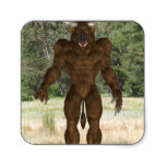 Greek Minotaur Square Sticker