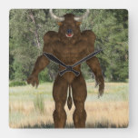 Greek Minotaur Square Wall Clock