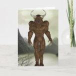 Horned Minotaur  Note Card
