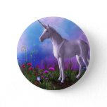 Majestic Unicorn Pinback Button
