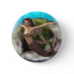 Mermaid Diva Button