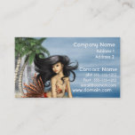 Mermaid on Beach Business Cards