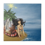 Mermaid on Beach Tile