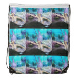 Mermaid Swimming Drawstring Backpack
