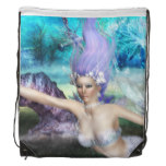 Mermaid Swimming Drawstring Bag