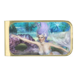 Mermaid Swimming Gold Finish Money Clip