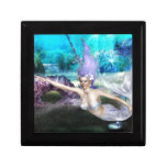 Mermaid Swimming Keepsake Box