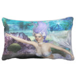 Mermaid Swimming Lumbar Pillow