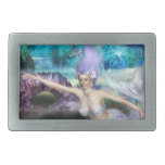 Mermaid Swimming Rectangular Belt Buckle