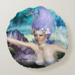 Mermaid Swimming Round Pillow
