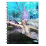 Mermaid Swimming Spiral Notebook