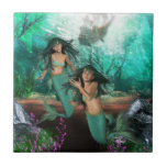 Mermaid Twins  Tile