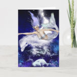 Mermaid with Dolphin Greeting Card