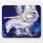 Mermaid with Dolphin Mouse Pad