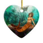 Mermaid with Shipwreck Ceramic Ornament