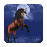Moonlit Unicorn Beverage Coaster