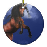 Moonlit Unicorn Ceramic Ornament