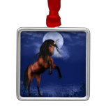 Moonlit Unicorn Metal Ornament