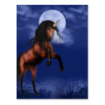 Moonlit Unicorn Postcard