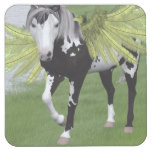 Pegasus Dreams Square Paper Coaster