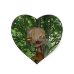Piping Satyr Heart Sticker