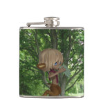 Piping Satyr Hip Flask