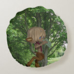 Piping Satyr Round Pillow