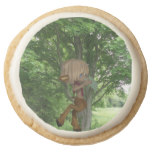 Piping Satyr Round Shortbread Cookie