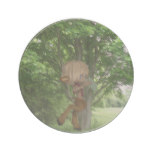 Piping Satyr Sandstone Coaster