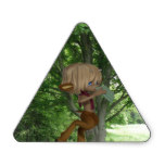 Piping Satyr Triangle Sticker