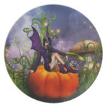 Pumpkin Fairy Dinner Plate