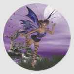 Purple Fae Classic Round Sticker