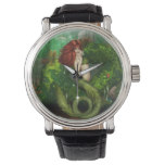 Red Haired Mermaid Wrist Watch
