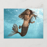 Swimming Mermaid Postcard