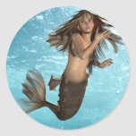 Swimming Mermaid Stickers